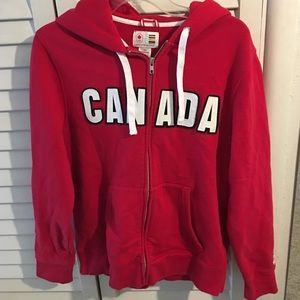 Hudson's Bay TEAM CANADA OLYMPIC HOODIE Zip-Up szS